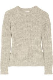 Gorgeous jumper - love alpaca fibre!  MiH Jeans Waffle-knit wool and alpaca-blend sweater
