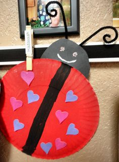 Symmetry: cute valentines day craft for kids