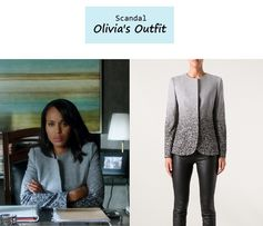 "On the blog: Olivia Pope's (Kerry Washington) tonal ombre blazer jacket | Scandal - ""Icarus"" (Ep. 306) #tvstyle #tvfashion #outfits #fashion #gladiators"
