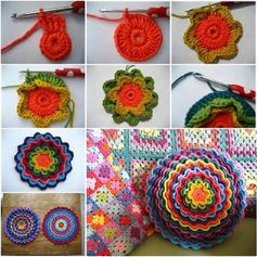 DIY Crochet Flower (video) | Decorative X