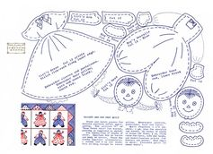 Free Raggedy Ann and Andy Doll Applique Pattern PLUS MORE FREE PATTERNS HERE