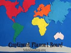 Continent Flannel Board #geography #homeschool #preschool  from @Karyn ~ Teach Beside Me