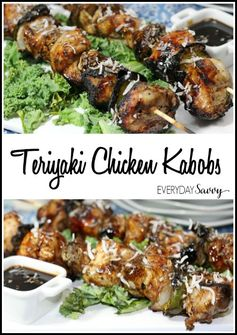 Teriyaki Chicken Kabobs Recipe | Everyday Savvy - Highlighted at the #HomeMattersParty 53