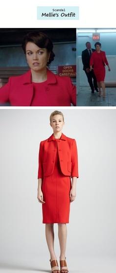 Scandal Season Finale 222: Mellie Grant's (Katie Lowes) Michael Kors dress & blazer #tvfashion #outfits #fashion #style