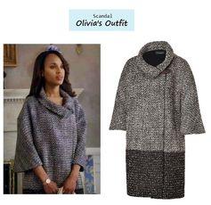 Scandal Season Finale 222: Olivia Pope's (Kerry Washington) Piazza Sempione Wool Coat #tvfashion #outfits #fashion #style