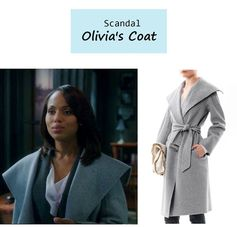 "On the blog: Olivia Pope's (Kerry Washington) gray shawl collar coat | ""Guess Who's Coming to Dinner"" (Ep. 302) #tvfashion #tvstyle #gladiators #falltv #fashion #outfits #fallfashion"
