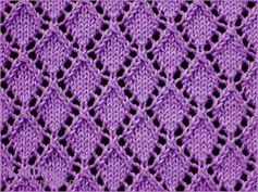 Openwork Diamonds  - Lace knitting pattern