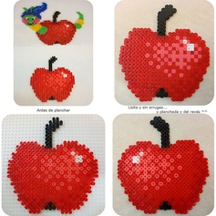 Manzana Apple hama beads by Laguna de Anilina