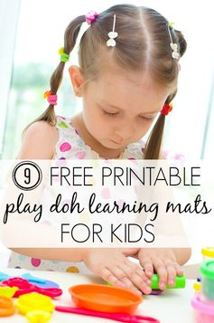 From letters to numbers to shapes to faces, these free printable play doh learning mats will keep your kids occupied for hours so you can browse Pinterest (or clean your toilets - the choice is yours). ENJOY!