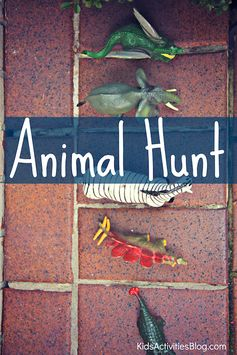 Go on an animal hunt!  Fun scavenger hunt to keep kids moving while searching.