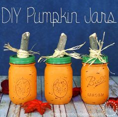 DIY Pumpkin Jars | The Scrap Shoppe - Featured at the #HomeMattersParty 55