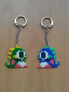 Bubble Bobble Keyring set Hama mini beads by PixelBeadPictures,