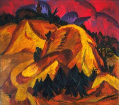 Ernst Ludwig Kirchner, Sand Hills in Engadine, 1917–18. COURTESY MUSEUM OF MODERN ART