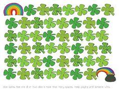 St. Patrick's Day Dice Game FREEBIE!