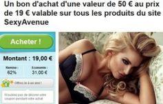 Sexy Avenue : 19 euros les 50 euros d'achats lingerie sexy, sextoys… / de nouveau dispo - http://www.bons-plans-malins.com/sexy-avenue-19-euros-les-50-euros-dachats-lingerie-sexy-sextoys/ #Autres, #Mode
