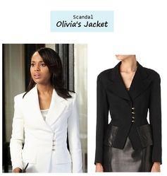 Scandal Season Finale 222: Olivia Pope's (Kerry Washington) White Tom Ford Blazer Jacket #tvfashion #outfits #fashion #style #gladiators