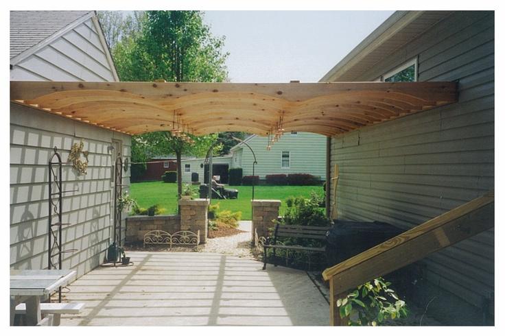 patio overhang   garden   Pinterest on Backyard Overhang Ideas id=32084