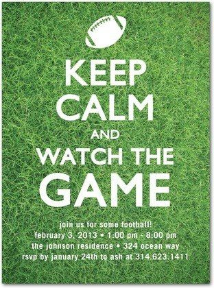 Superbowl Party Invite | Football Party #NFL #GameDay