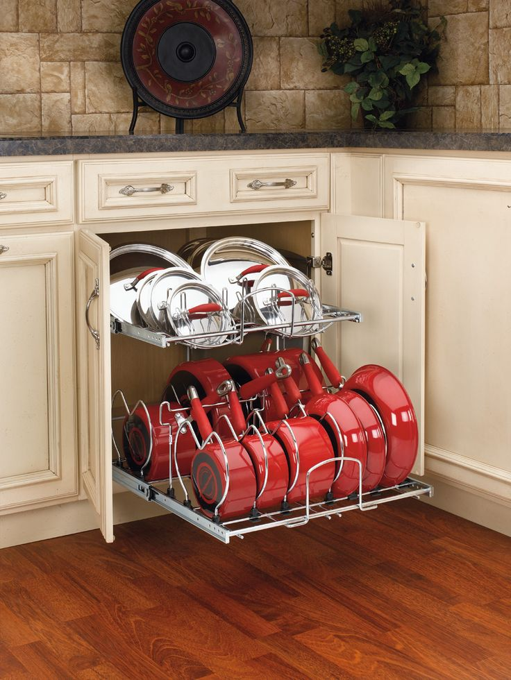 pull out pots and pans organizer home pinterest on kitchen organization pots and pans id=85998
