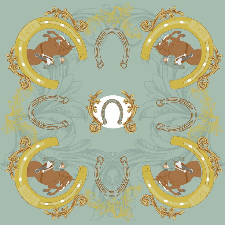 Entry in L.Lavone equestrian scarf design contest from Victoria Brzustowicz of New York.