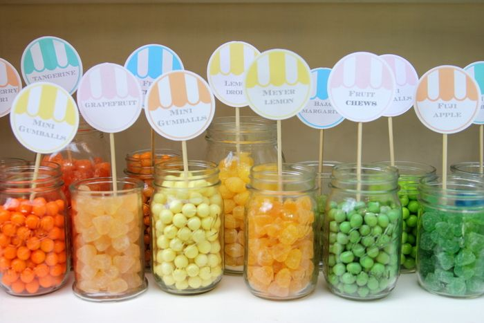 tarros de cristal candy bar
