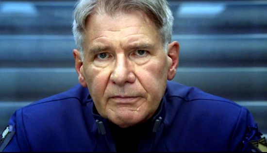 "The ""Ender's Game"" clip features a uniformed Harrison Ford as Colonel Hyrum Graff delivering a missive to new Battle School recruits on behalf of the International Fleet regarding Mazer Rackham."