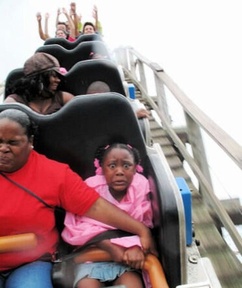 Roller coaster face- this made me laugh. Poor baby