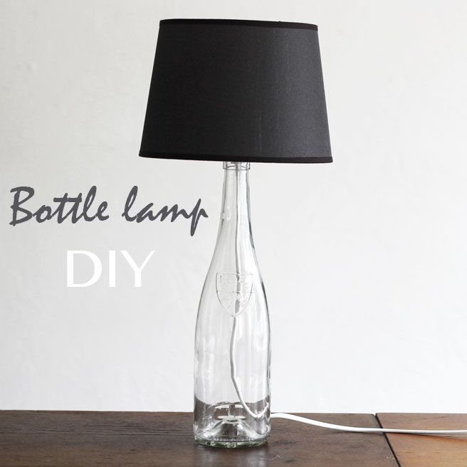 Bottle Lamp DIY #home #decor #upcycle #reuse
