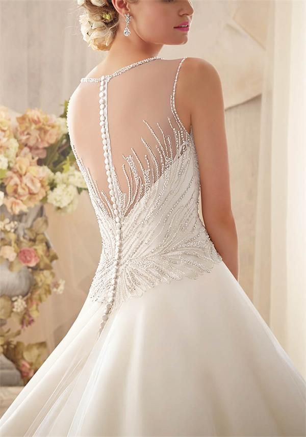 """""""Karen"""" by Mori Lee (style no: 2602), Beautiful beaded bodice and full organza skirt, GORGEOUS!!"""