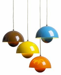 Verner Panton flower-pot pendants