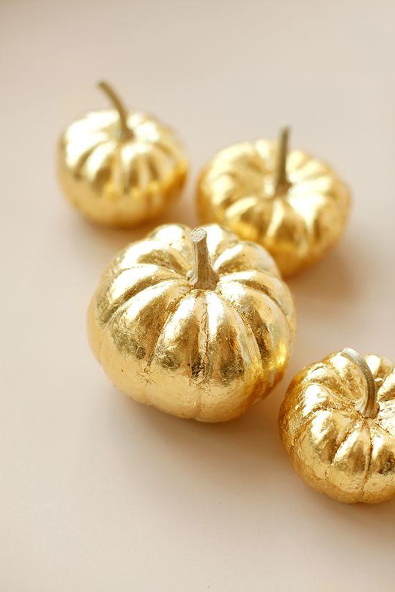 How To Gold-Leaf a Pumpkin