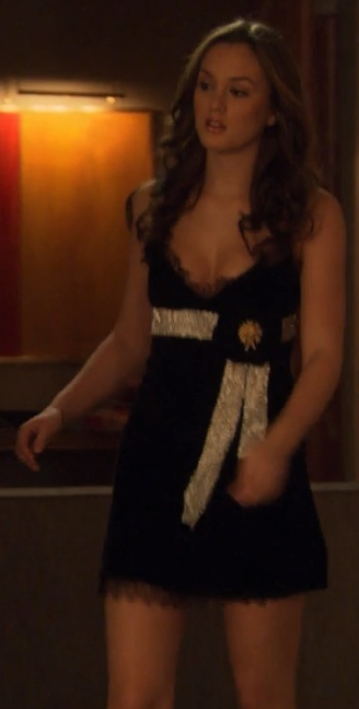 2x15 Looking hot, B.    Dolce & Gabbana dress.
