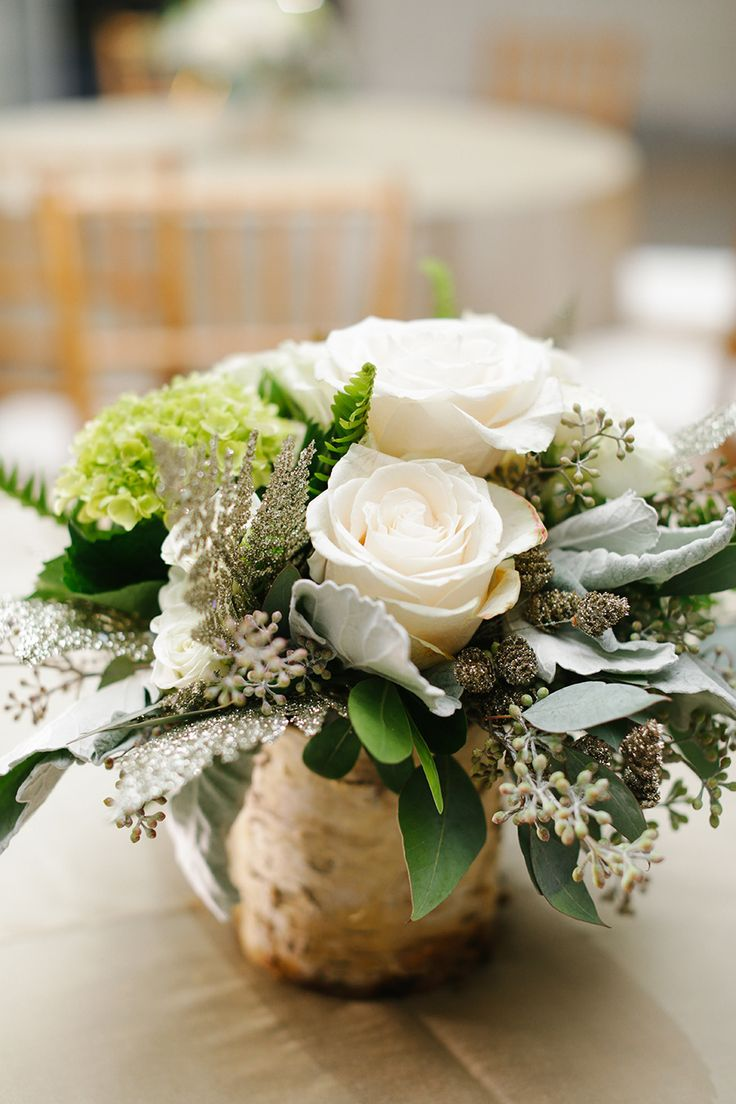 Rustic Centerpiece at an Elegant Reception | See the wedding on SMP: http://www.StyleMePretty.com/2014/01/29/elegant-wedding-at-new-york-historical-society/ Smitten Photography