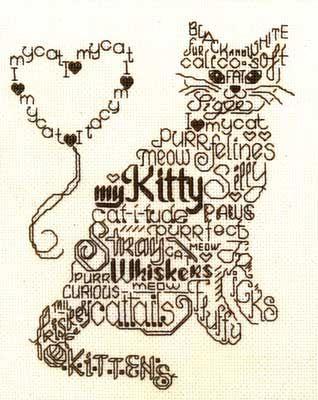 cute cat cross stitch