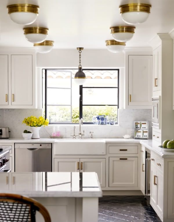 white kitchen with gold hardware home sweet home pinterest on kitchen remodel gold hardware id=46403