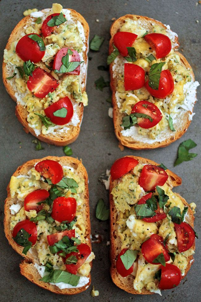 Breakfast Bruschetta  [time approx. 30 mins., serves 4 as a main dish, 8 as side dish...]
