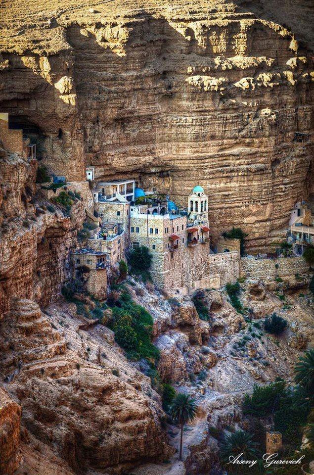 St. George's Monastery, Wadi Qelt, the Judean Desert, Israel/West-Bank.