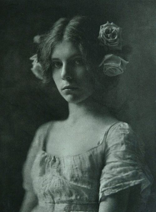 Old black and white photograph