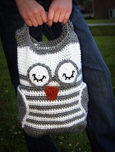 owl crochet bag I NEED ONE!!!!!!
