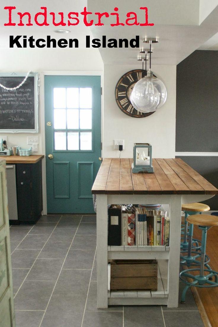 diy industrial kitchen island on kitchen island ideas diy id=87472