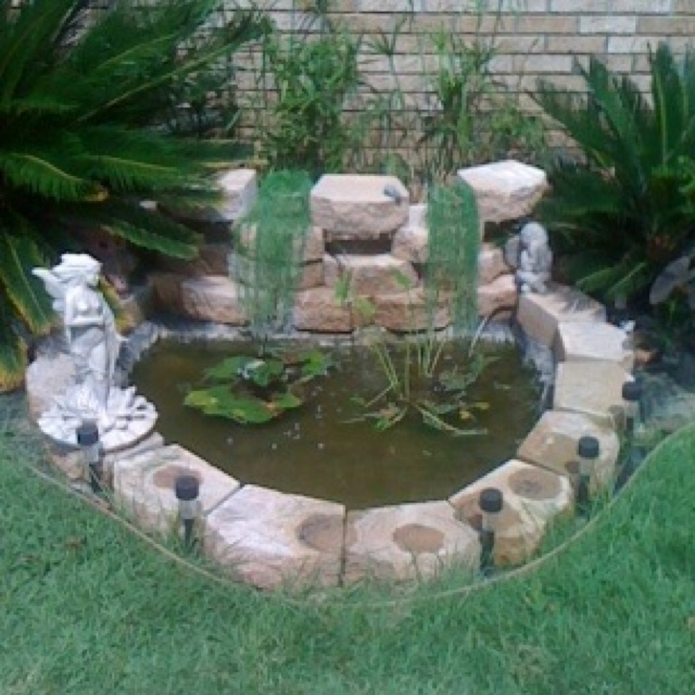 Front yard pond   Food & Drink that I love   Pinterest on Front Yard Pond  id=79920
