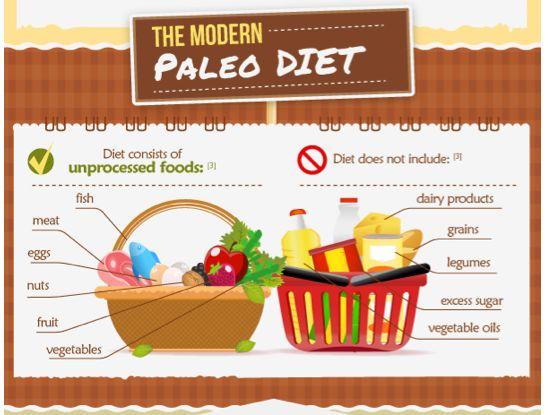 Paleo Diet Infograph.