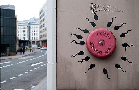 Banksy's sperm alarm