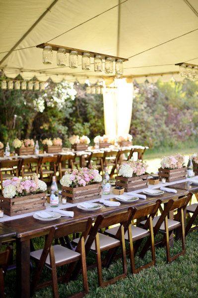 Una boda de reciclaje mi boda diy - Como decorar cajas de madera para centros de mesa ...