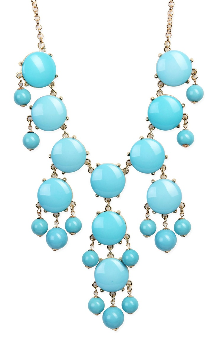 Bubble #necklace in #blue   $12.37