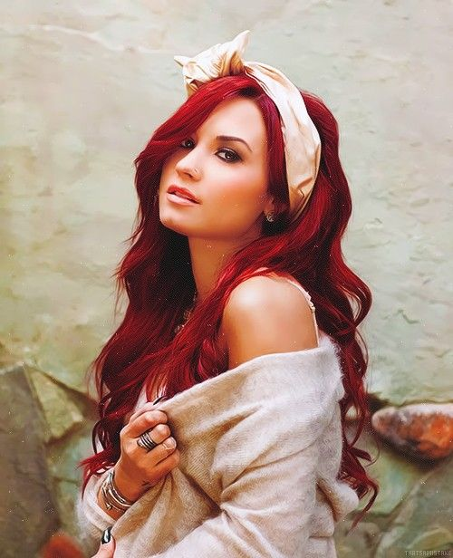 red hair dont care  demi lovato