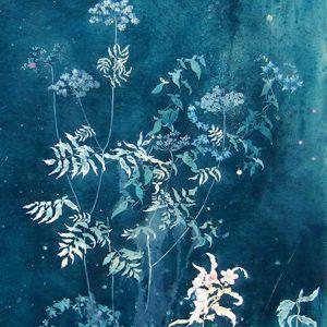 Henrik Simonsen - midnight garden  oil and graphite on canvas