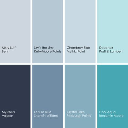 inspiration via houzz blue paint picks clockwise from on kelly moore paint colors chart id=53962