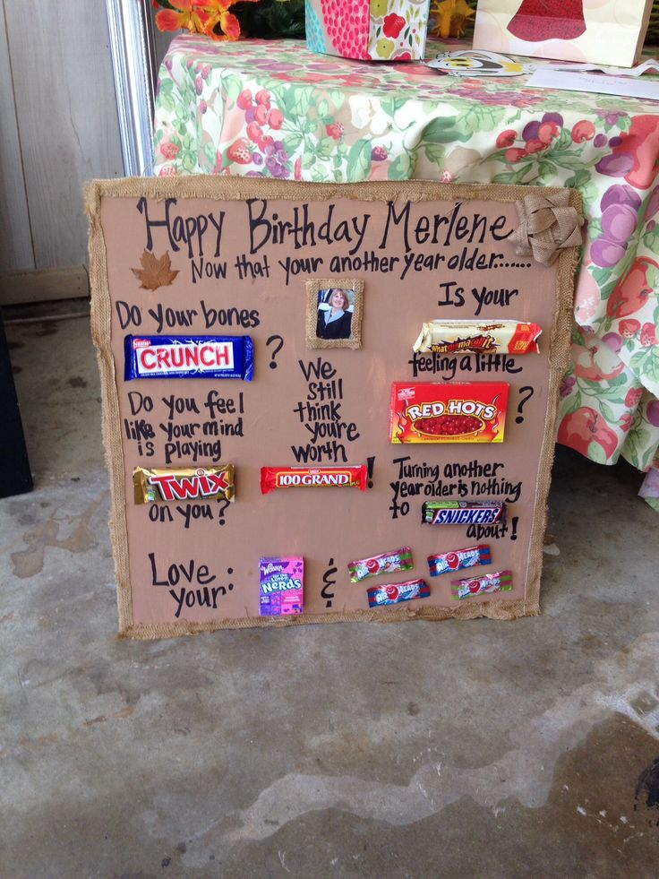 Candy bar poem for birthday gift gifts pinterest