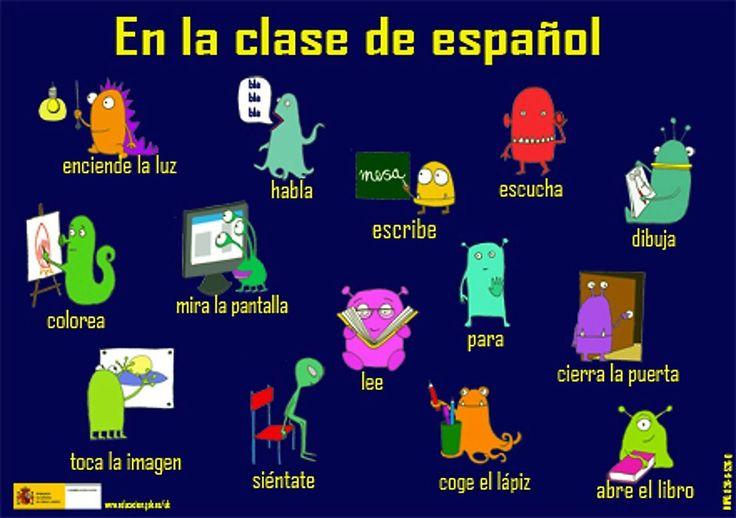 En la clase de español.